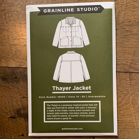 Thayer Jacket Pattern — Grainline Studios