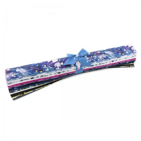 Snow Flowers Fat Quarter Roll -- Cotton + Steel