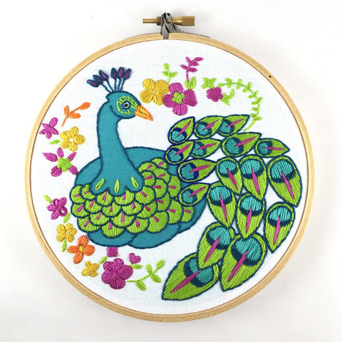 Peacock Embroidery Kit -- RikRack Embroidery