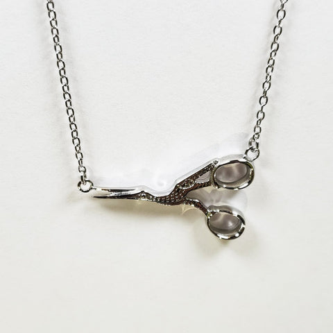 Stork Scissor Necklace