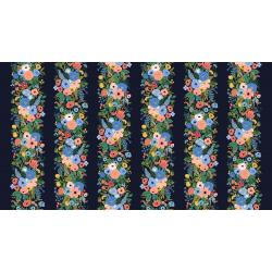 Garden Party Vines in Navy Rayon   -- Wildwood by Rifle Paper Co. for Cotton + Steel