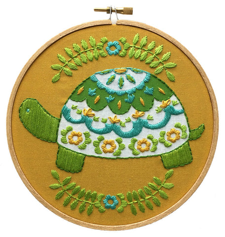 Turtle Embroidery Kit -- RikRack Embroidery