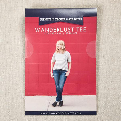 Wanderlust tee pattern -- Fancy Tiger Crafts