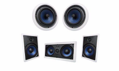 "Silver Ticket Products 6.5"" Surround Sound Audio Speaker System In Wall & Ceiling Flush"