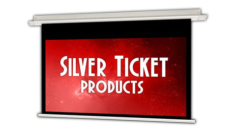 "SIE-169106 Silver Ticket 106"" Diagonal 16:9 HDTV In-Ceiling Electric Projector Screen White Material"