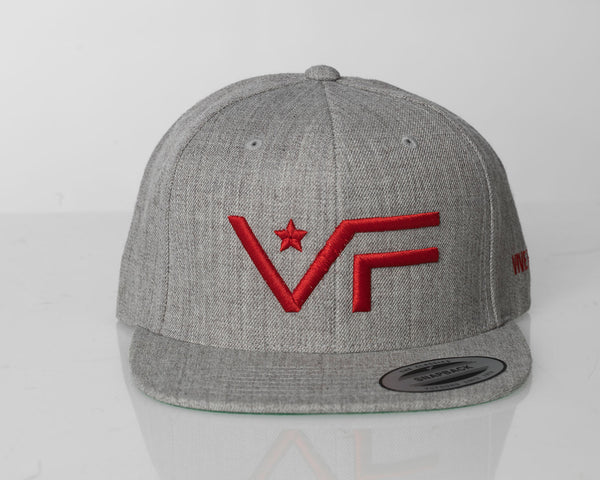 VF Snapback - Heather Grey | Red - Vive Fortis - 1