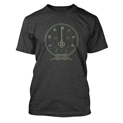 Thrice Braided Key T-shirt - Heather Charcoal