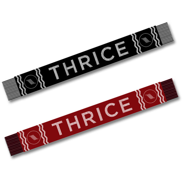 Official Thrice Bars Logo Knitted Scarf