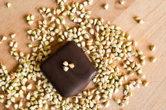 Crispy Crunch - Inspired by the Nestle Crunch Bar, this truffle gets its crunch from sprouted buckwheat