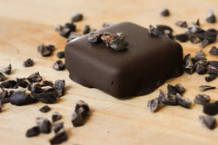 Nibs Dark - Intensely dark cacao nibs add a crunchy boost to this antioxidant rich truffle.