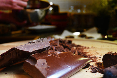 raw organic chocolate and other ingredients sourced from fair trade suppliers and small farms
