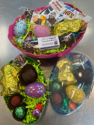 Assorted Raw Chocolate Easter Egg-Large-Dairy Free, Gluten Free - Super Natural Chocolate Co
