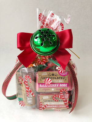 Christmas Chocolate Truffle Bag w/lip balm - Super Natural Chocolate Co