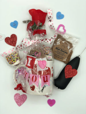Valentines Hot Cocoa Mug kit - Super Natural Chocolate Co