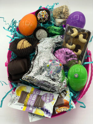 Large Assorted Raw Chocolate Easter Egg, Dairy-Free, Gluten-Free - Super Natural Chocolate Co