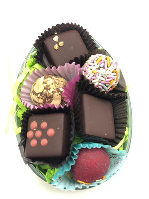 Assorted Raw Chocolate Truffle Easter Egg - Super Natural Chocolate Co