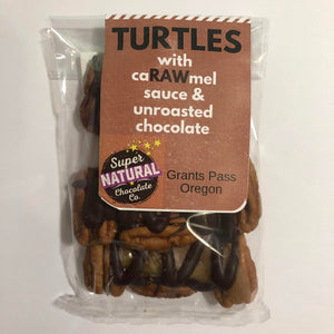 Raw Dark Chocolate Pecan Turtle - Super Natural Chocolate Co