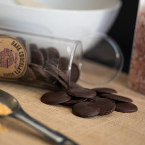 Raw Dark Chocolate Discs - The Great Unbaked