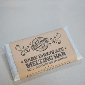 Raw Dark Chocolate Melting Bar With Mold - The Great Unbaked