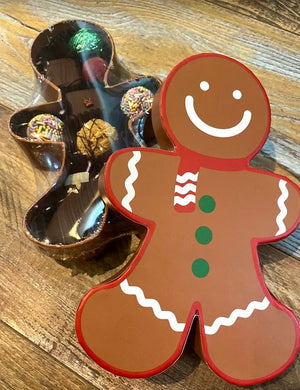 Gingerbread Man Chocolate Sampler - Super Natural Chocolate Co