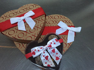 Valentines Day Assorted Raw Chocolate, Small Box - The Great Unbaked
