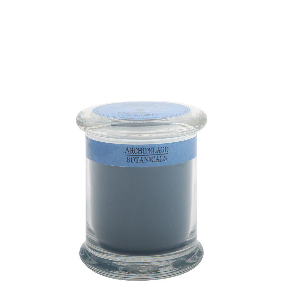 Santorini Glass Jar Candle
