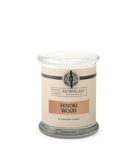 Hinoki Wood Glass Jar Candle