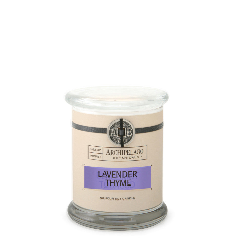 Lavender Thyme Glass Jar Candle, Candles, Glass & Jar - Archipelago