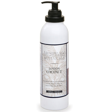 Coconut 18 oz. Lotion is a luxurious lotion that is paraben free, gluten free, vegan, cruelty-free, and made with organic extracts