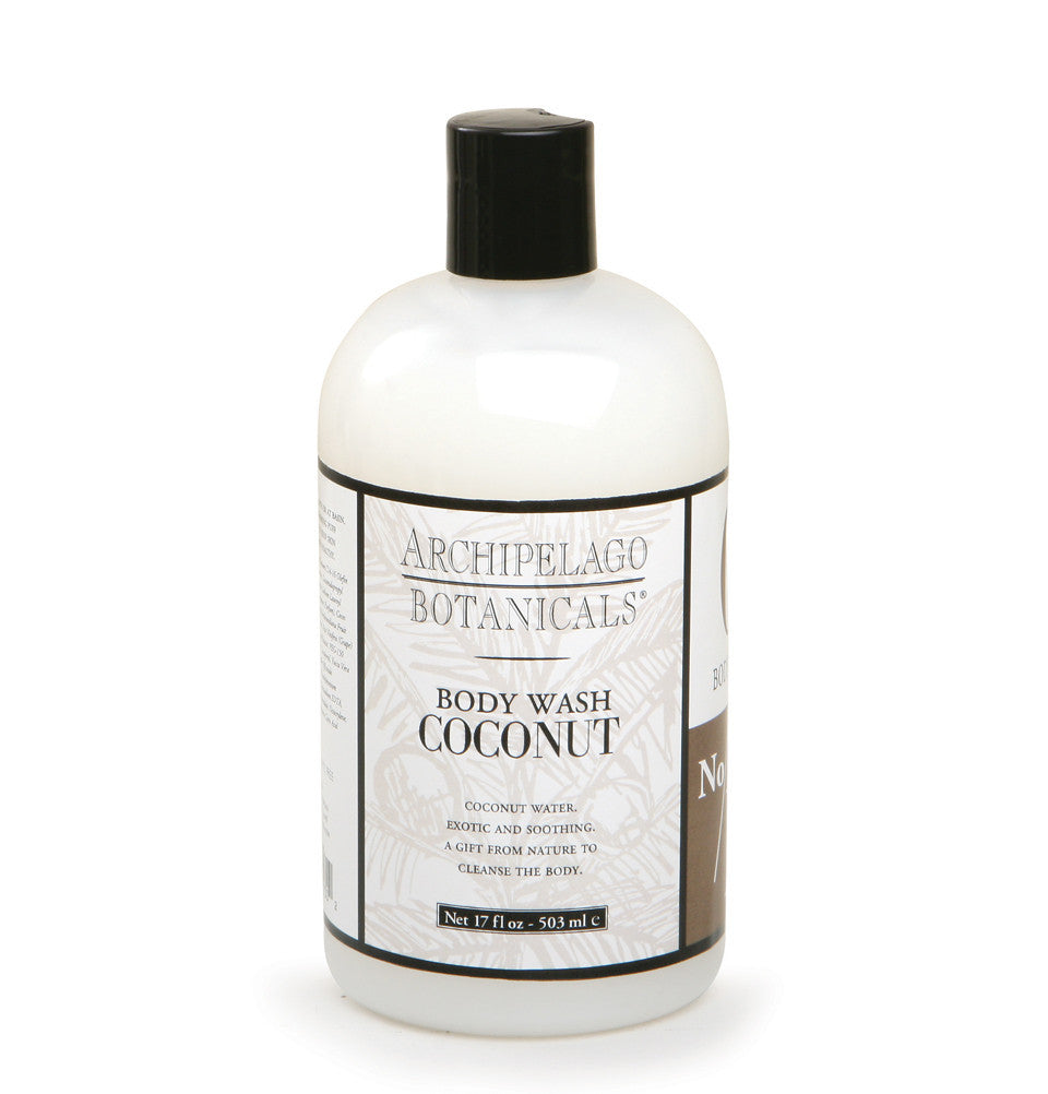 Coconut 17 oz. Body Wash is a decadent sulfate free body wash that is infused with the fragrance of Coconuts, Lemon Verbena, and Lime