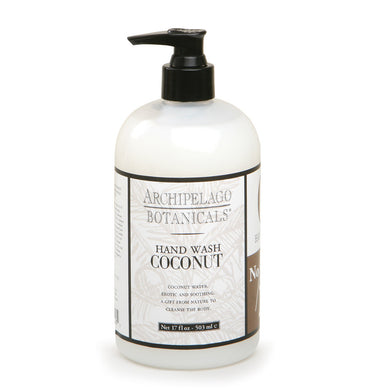 Coconut 17 oz. Hand Wash is a refreshing hand wash that is blended with coconut oil, natural plant extracts, and jojoba esters to restore and soothe the skin