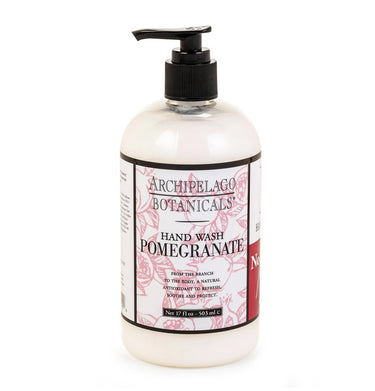 The Pomegranate 17 oz. Hand Wash is a curated blend of the slightly sweet and refreshing notes of Ripe Pomegranates, Valencia Oranges, and White Peaches - Archipelago