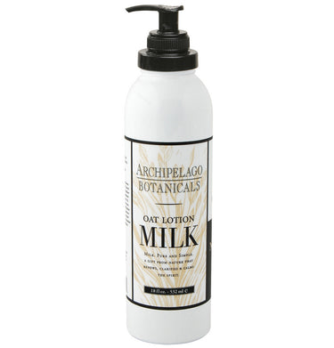 Oat Milk Lotion is blended with dried Milk Solids to keep skin looking and feeling soft and supple