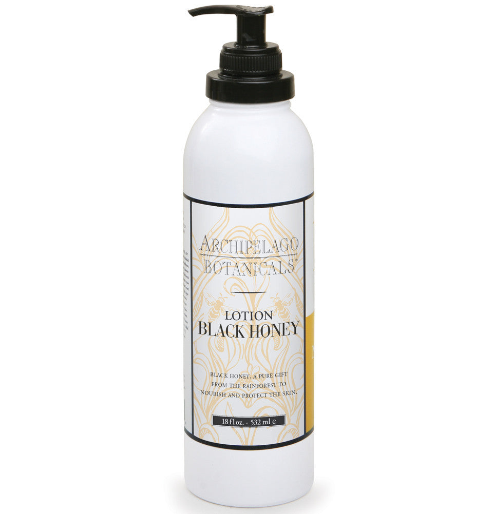 Black Honey 18 oz. Lotion is filled with powerful humectants that will moisturize, soften, and protect your skin