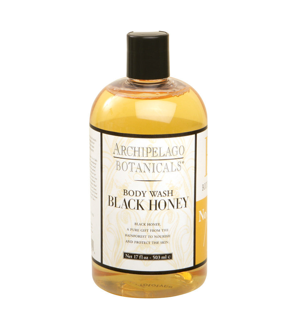 Black Honey 17 oz. Body Wash contains powerful humectants that will moisturize, soften, and protect the skin while it cleanses