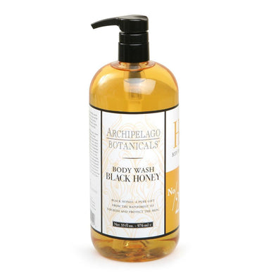 Black Honey 33 oz. Body Wash is filled with powerful humectants that will moisturize, soften, and protect the skin while it cleanses