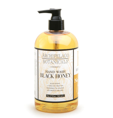 Black Honey 17 oz Hand wash is filled with powerful humectants that will moisturize, soften, and protect your hands while it cleanses