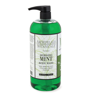 Morning Mint 33 oz. Body Wash from a blend of Wild Mint and Fresh Basil