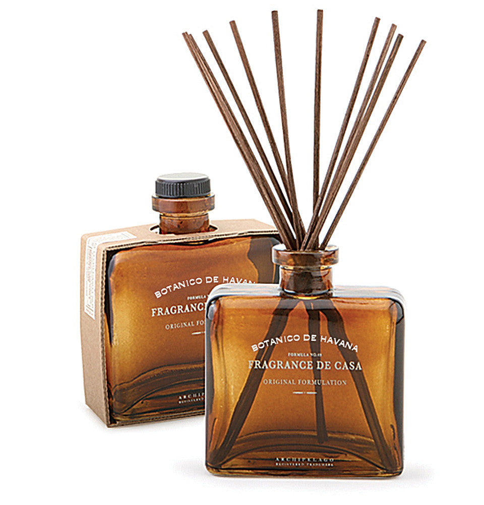 Botanico de Havana Reed Diffuser is made with an intoxicating blend of Bergamot, Ylang Ylang, and Tobacco Flower that will your home with several months of fragrance