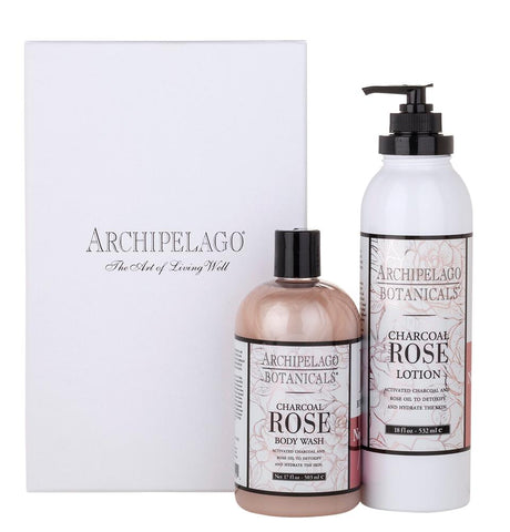 Charcoal Rose Body Wash & Lotion Set