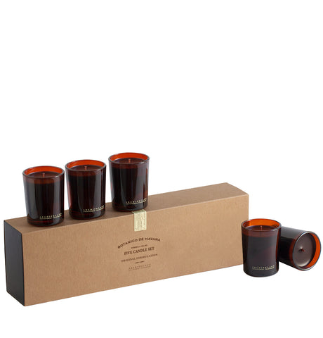 Botanico de Havana 5 Piece Votive Set