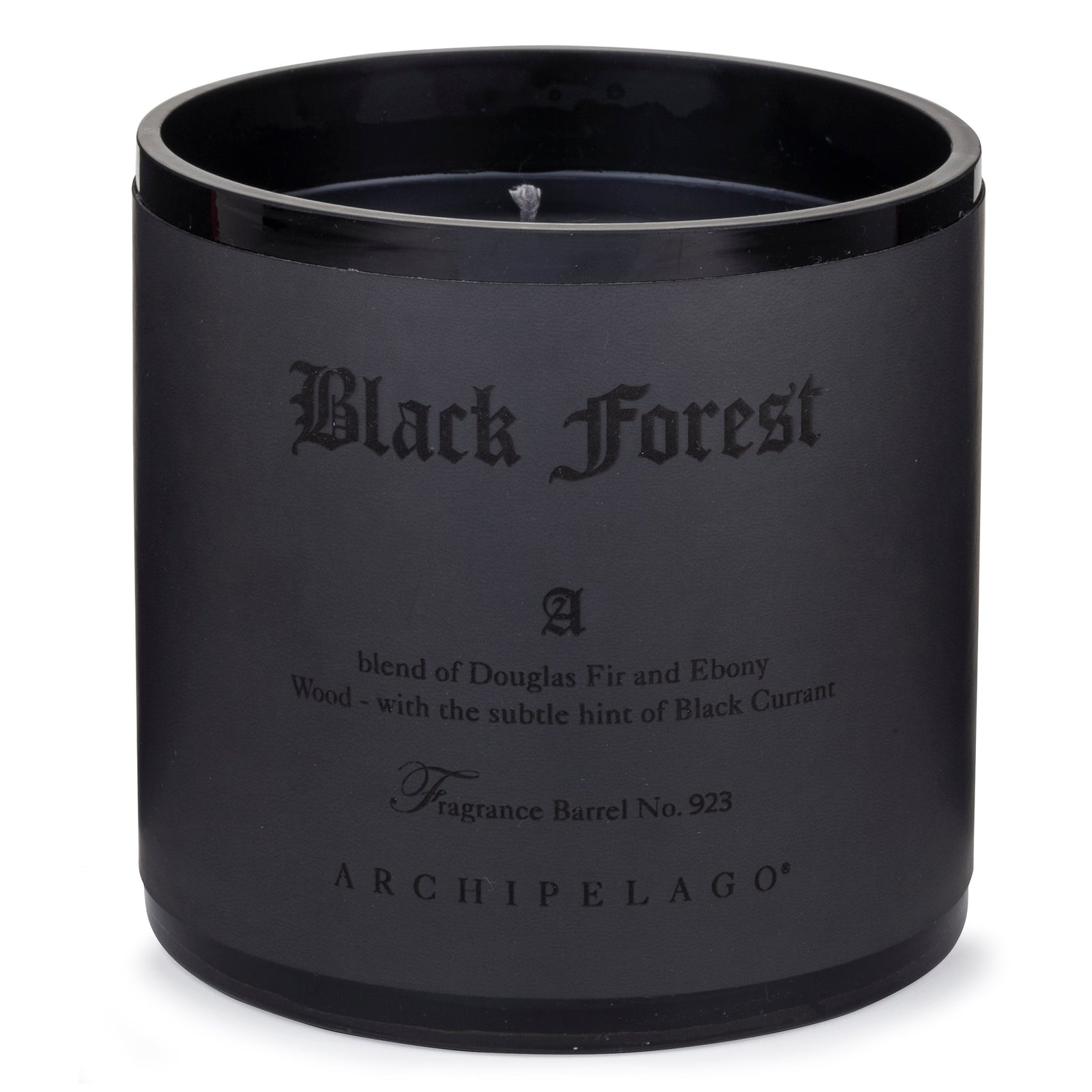 Black Forest XL 3 Wick Candle will fill your space with the warm and sultry blend of Douglas Fir and Dark Ebony Woods with hints of Black Currant for hundreds of hours
