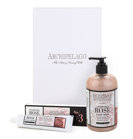Charcoal Rose Hand Crème & Hand Wash Set