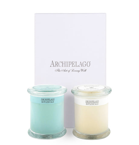Floral Glass Jar Candle Duo