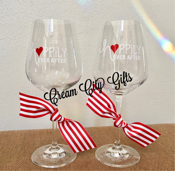 Happily Ever After Wine Glass Set