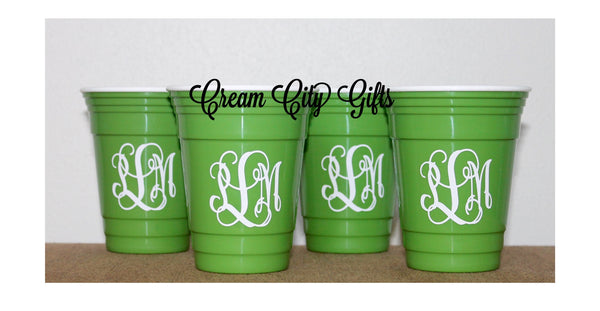 Monogrammed Insulated Party Cups