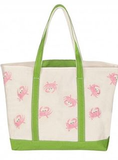 Small Canvas Crab Tote