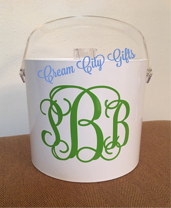 Monogrammed Insulated Ice Bucket