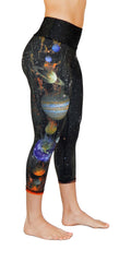 planets yoga legging capris right leg