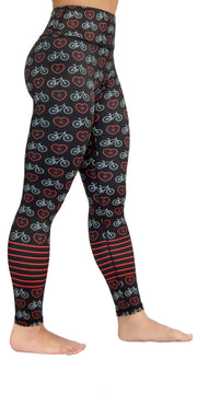 Heart Wheels - Black - Legging